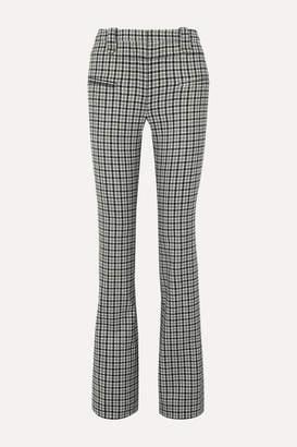 Altuzarra Serge Checked Wool-blend Twill Bootcut Pants - Gray