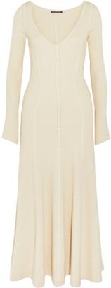 Alexander McQueen Ribbed Wool-blend Midi Dress