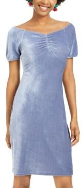 Ultra Flirt Juniors' Corduroy Ruched Bodycon Dress