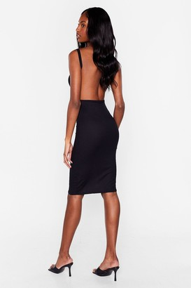 Nasty Gal Womens We're Going Out Tonight Ribbed Dress - Black