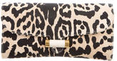 Saint Laurent Leopard Print Envelope Clutch