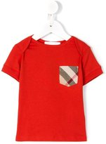 Burberry checked pocket T-shirt