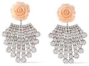 Dannijo Rhodium-plated, Crystal And Resin Earrings