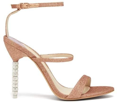 Sophia Webster Rosalind Crystal Embellished Leather Sandals - Womens - Rose Gold