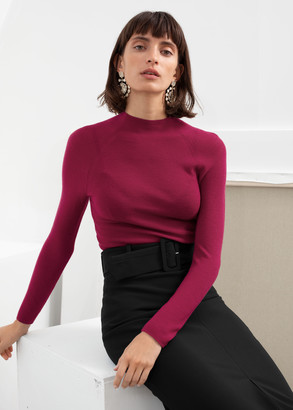 And other stories Fitted Mock Neck Wool Sweater