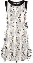 Karl Lagerfeld Women's 61kw1313bianco/nero White/black Polyester Dress.