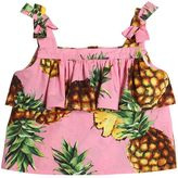 Dolce & Gabbana Pineapple Print Cotton Poplin Top