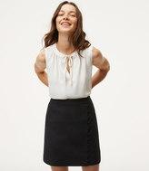 LOFT Home /a> Skirts Petite Button Trim Wrap Skirt Petite Button Trim Wrap Skirt