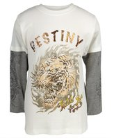 Ed Hardy Destiny Tiger Youth 2fer Long Sleeve T-Shirt - Youth