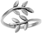 Journee Collection Women's Olive Leaf Wrap Ring in Sterling Silver - Silver