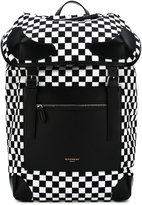 Givenchy checkered backpack - men - Cotton/Calf Leather/Polyamide/Polyurethane - One Size