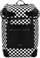 Givenchy checkered backpack - men - Cotton/Polyamide/Polyurethane - One Size