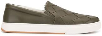 Bottega Veneta Maxi Weave Slip-On Sneakers