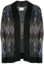 Laneus patterned cardi-coat