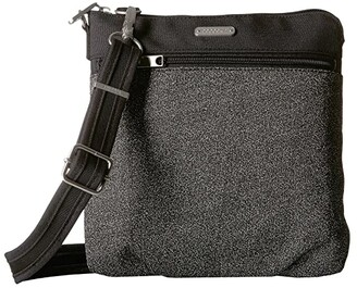Baggallini Anti Theft Slim Crossbody (Black Anti Theft) Cross Body Handbags
