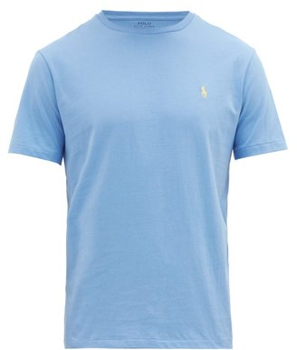 Polo Ralph Lauren Custom Slim-fit Logo-embroidered Cotton T-shirt - Mens - Blue