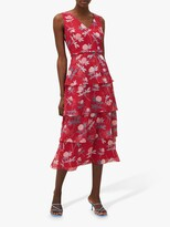 Thumbnail for your product : Phase Eight Antonella Floral Print Tiered Midi Dress, Pink