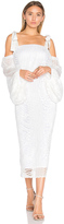 Rebecca Vallance Pulitzer Drape Sleeve Midi Dress