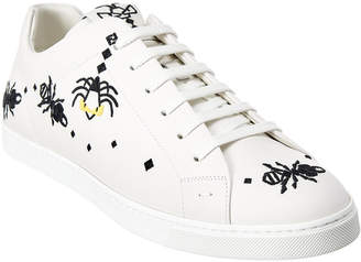 Fendi Super Bug Leather Sneaker