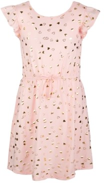 Epic Threads Big Girls Short Flutter Sleeve Cinched Tie Waist Dress