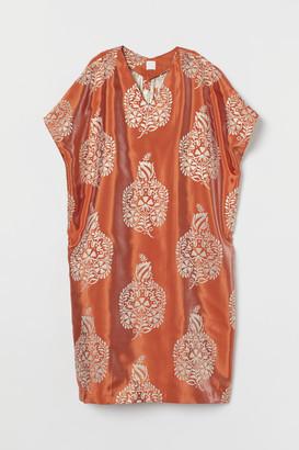 H&M Shimmery Metallic Tunic - Orange