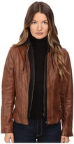 LAMARQUE Arlette Moto Jacket with Removable Hoodie