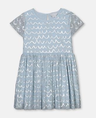 Stella Mccartney Kids Shell Foil Tulle Dress, Women's