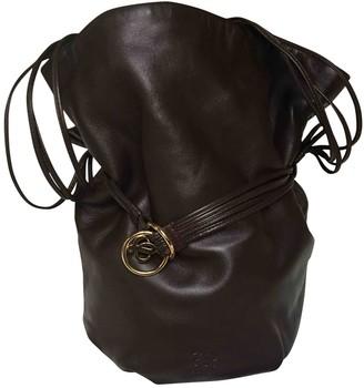 Loewe Backpack Brown Leather Handbags