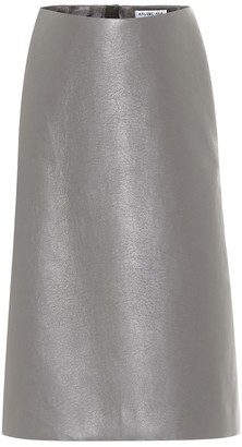 Balenciaga Faux leather midi skirt