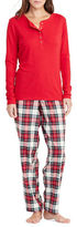 Lauren Ralph Lauren Cotton Twill Top and Pajama Pants Set