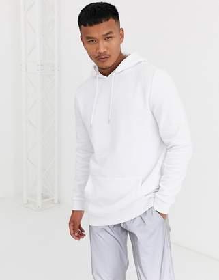 Asos Design DESIGN longline hoodie in white