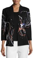 Misook Fireworks Embroidered Jacket, Plus Size