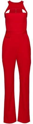 Brandon Maxwell Sleeveless Racerback Wool Jumpsuit