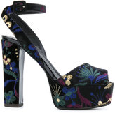 Giuseppe Zanotti Design Betty Shanghai platform sandals - women - Leather/Velvet - 35
