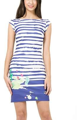 Desigual Women's Rayas Paint2 A-Line Sleeveless Dress,(Manufacturer Size:Medium)