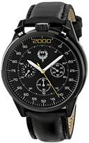Brillier Men's 13.02-01 #BUZZ Analog Display Quartz Black Watch