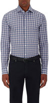 Ermenegildo Zegna Men's Plaid Cotton Shirt-PURPLE