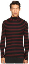 ATM Anthony Thomas Melillo Striped Long Sleeve Rib Turtleneck Sweater