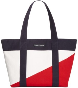 Tommy Hilfiger Canvas Th Flag Tote