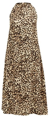 Arizona Love Athene Leopard-print Crepe Dress - Leopard