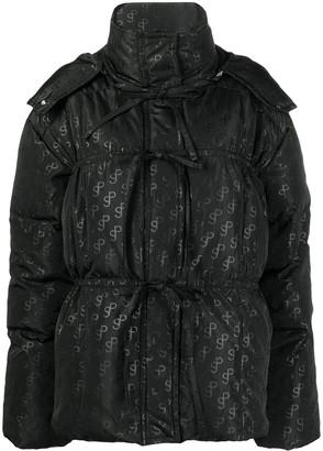 Saks Potts Monogram-Print Puffer Jacket