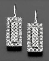 14k White Gold Diamond Earrings (1/3 ct. t.w.)