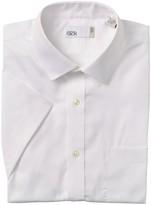 Nordstrom Rack Pinpoint Short Sleeve Trim Fit Dress Shirt