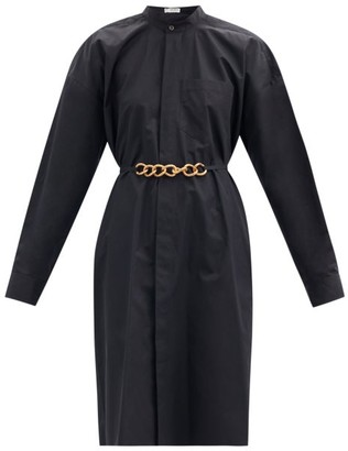 Givenchy Chain-waist Cotton-poplin Shirt Dress - Black