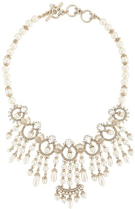 Marchesa crystal embellished Drama collar