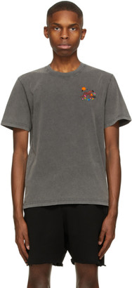 Carne Bollente Grey Beg Of Roses T-Shirt