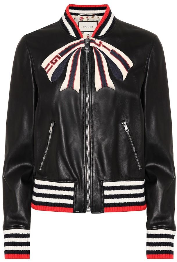 b7ebd337e Leather bomber jacket