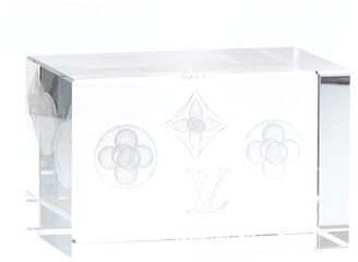 Louis Vuitton Clear Glass Paperweight