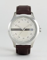 Armani Exchange AX2100 Leather Watch In Brown