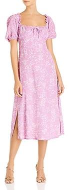 Faithfull The Brand Bette Tie Detail Midi Dress
